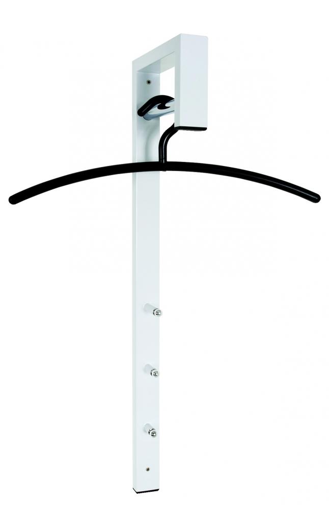 Nástěnný věšák Delon, 70 cm, bílá