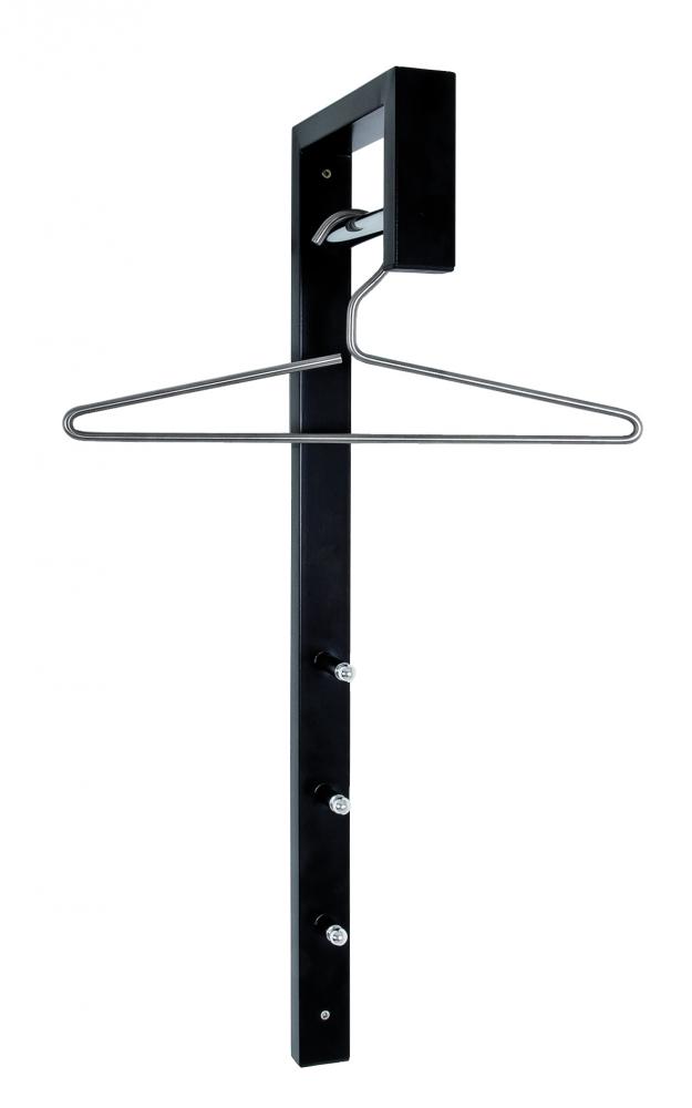 Nástěnný věšák Delon, 70 cm, černá