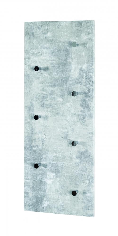 Nástěnný věšák Dilan, 80 cm, beton / chrom