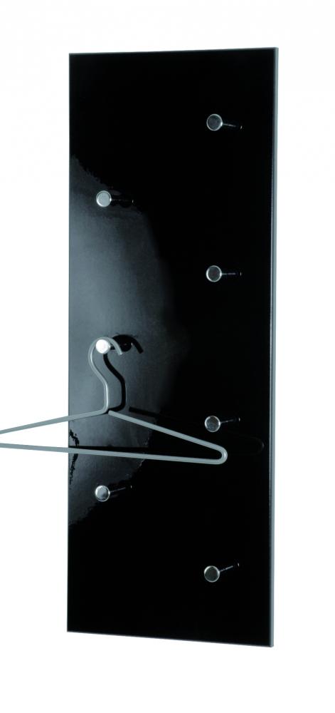 Nástěnný věšák Dilan, 80 cm, chrom / černá