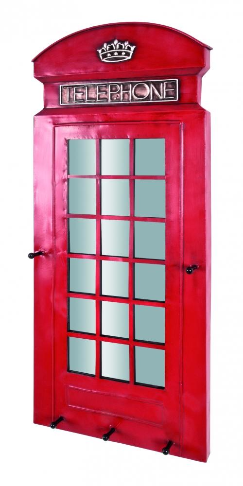 Nástěnný věšák Fors, 90 cm, červená
