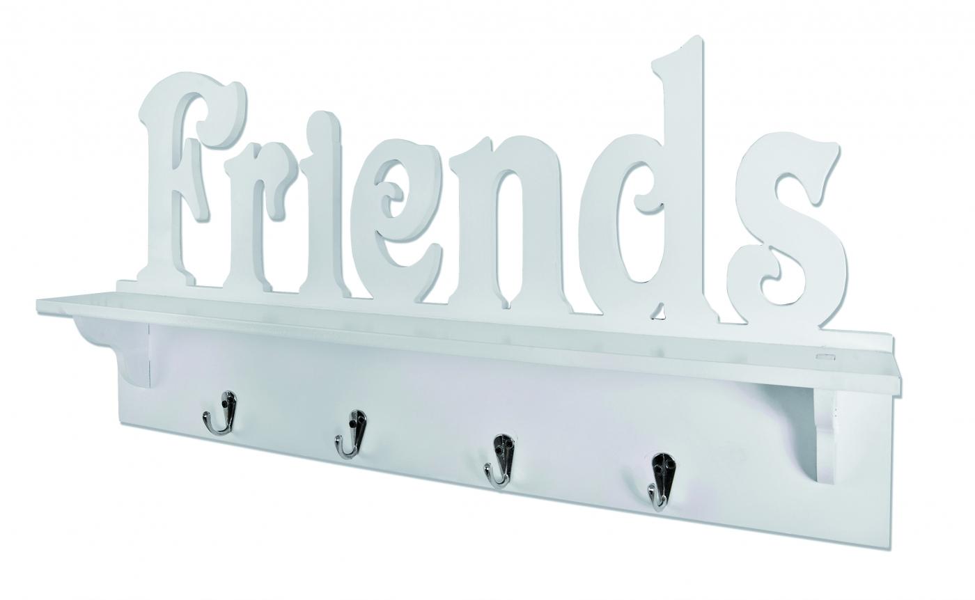 Nástěnný věšák Frend, 60 cm, bílá