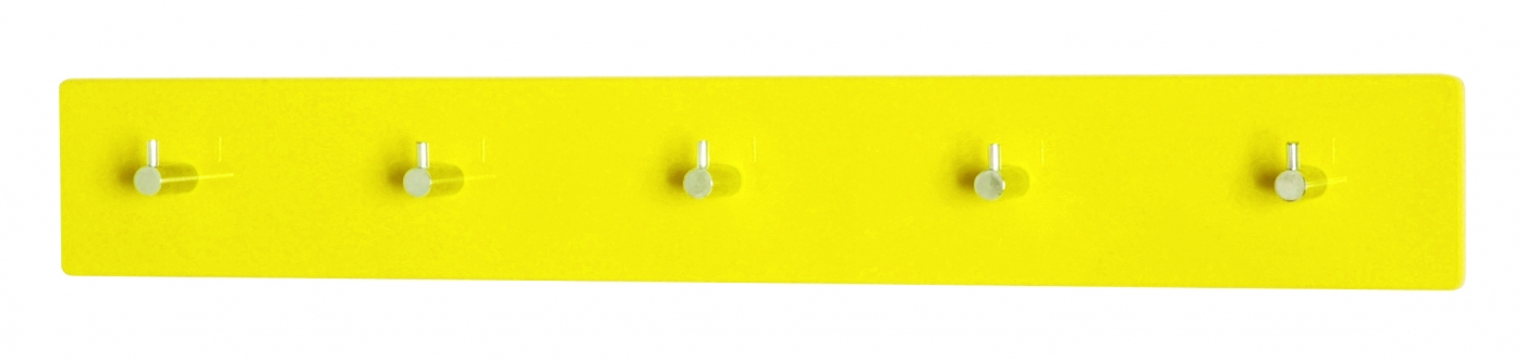 Nástěnný věšák Itab, 57 cm, žlutá