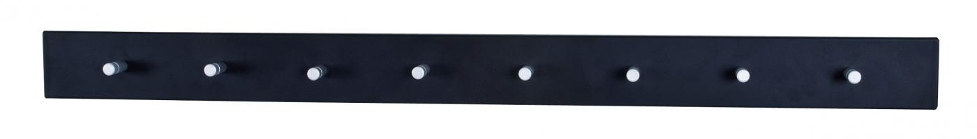 Nástěnný věšák Kalosio, 80 cm, černá