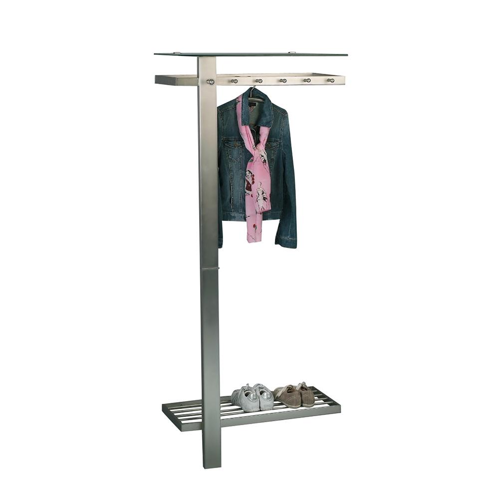 Nástěnný věšák kovový Vitos, 190 cm, nerez