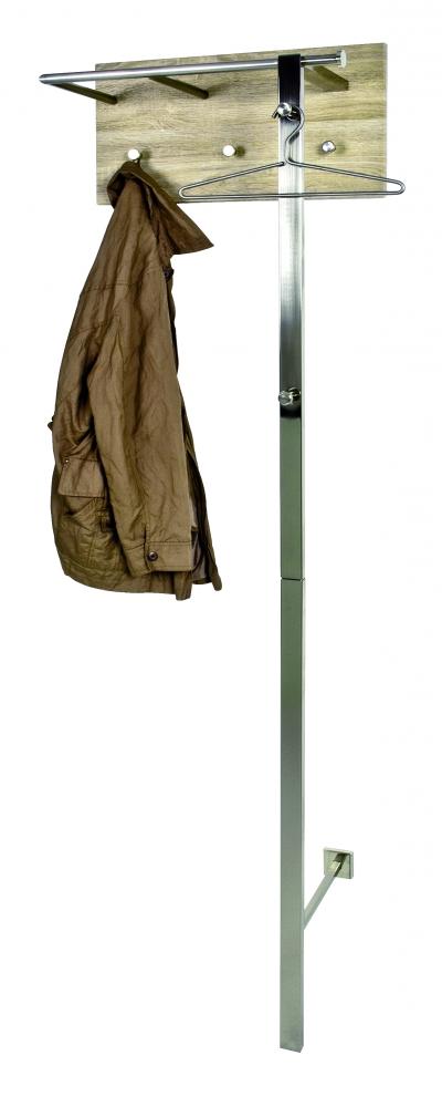 Nástěnný věšák Kylen, 192 cm, dub / nerez
