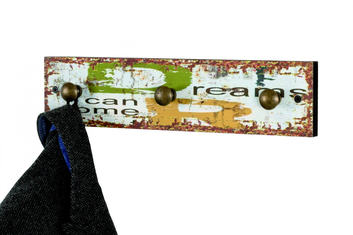 Nástěnný věšák Luzia, 34 cm