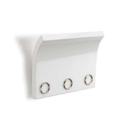 Nástěnný věšák magnetický Snapy, 25 cm, bílá
