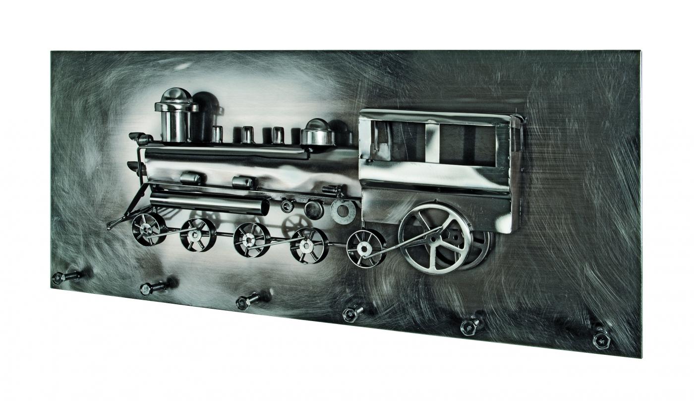 Nástěnný věšák Motive, 80 cm, tmavý chrom