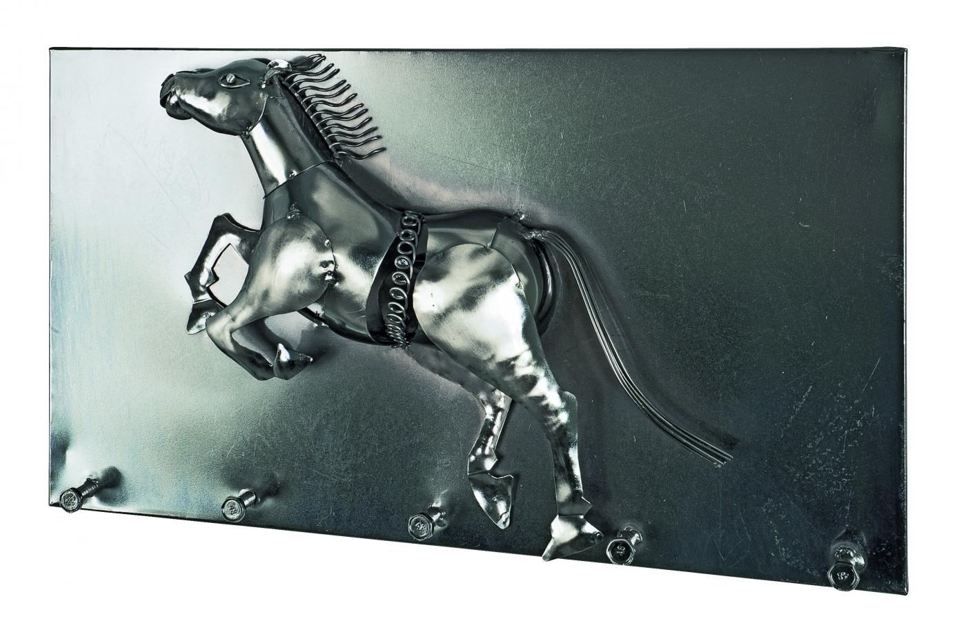 Nástěnný věšák Mustango, 35 cm, tmavý chrom