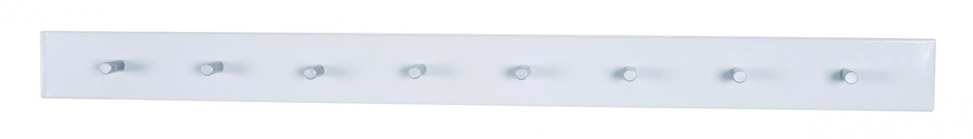 Nástěnný věšák na klíče Caspian, 44 cm, bílá