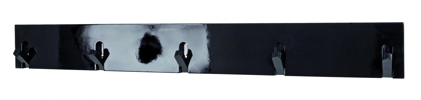 Nástěnný věšák na klíče Caspian, 82 cm, černá