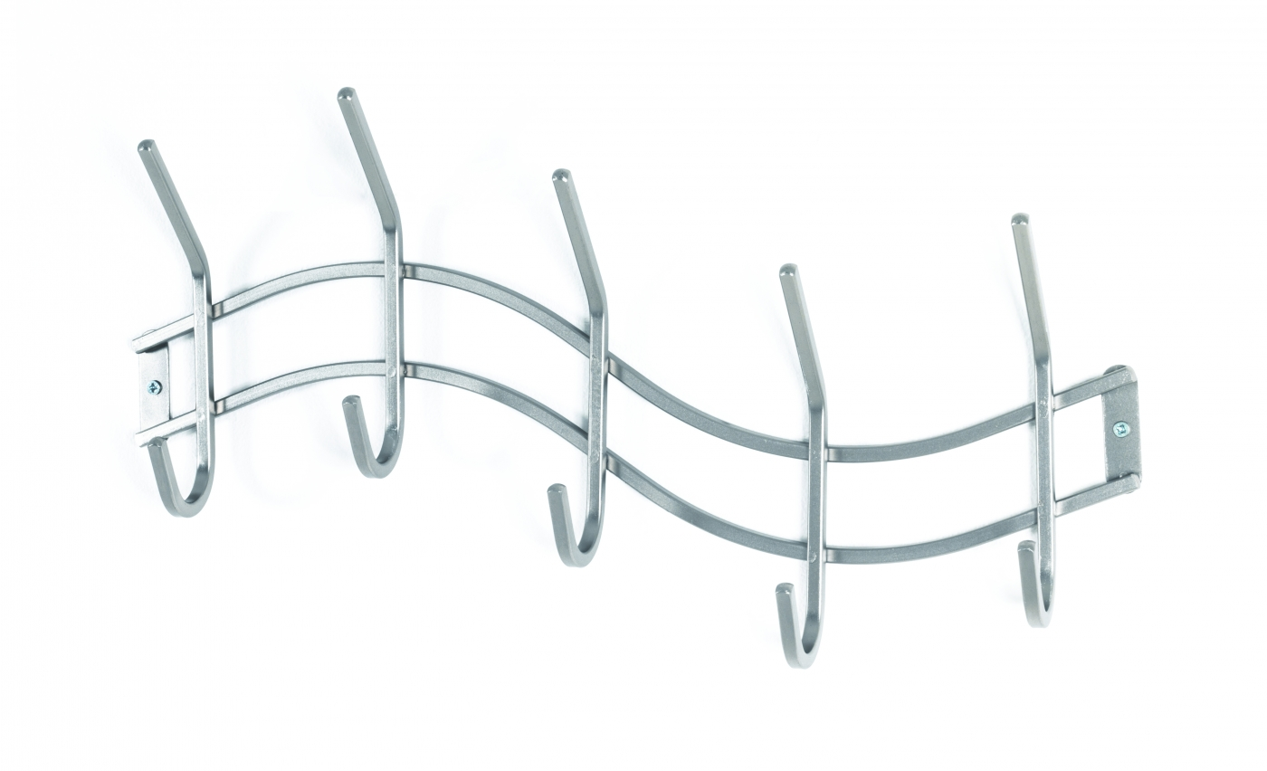 Nástěnný věšák Note, 46 cm, stříbrná
