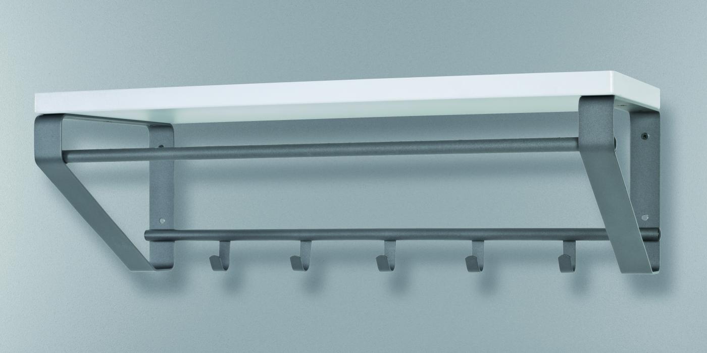 Nástěnný věšák s 5 háčky Barth, 70 cm