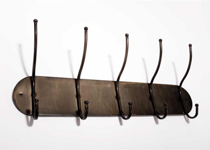 Nástěnný věšák s 5 háčky Milano, 60 cm