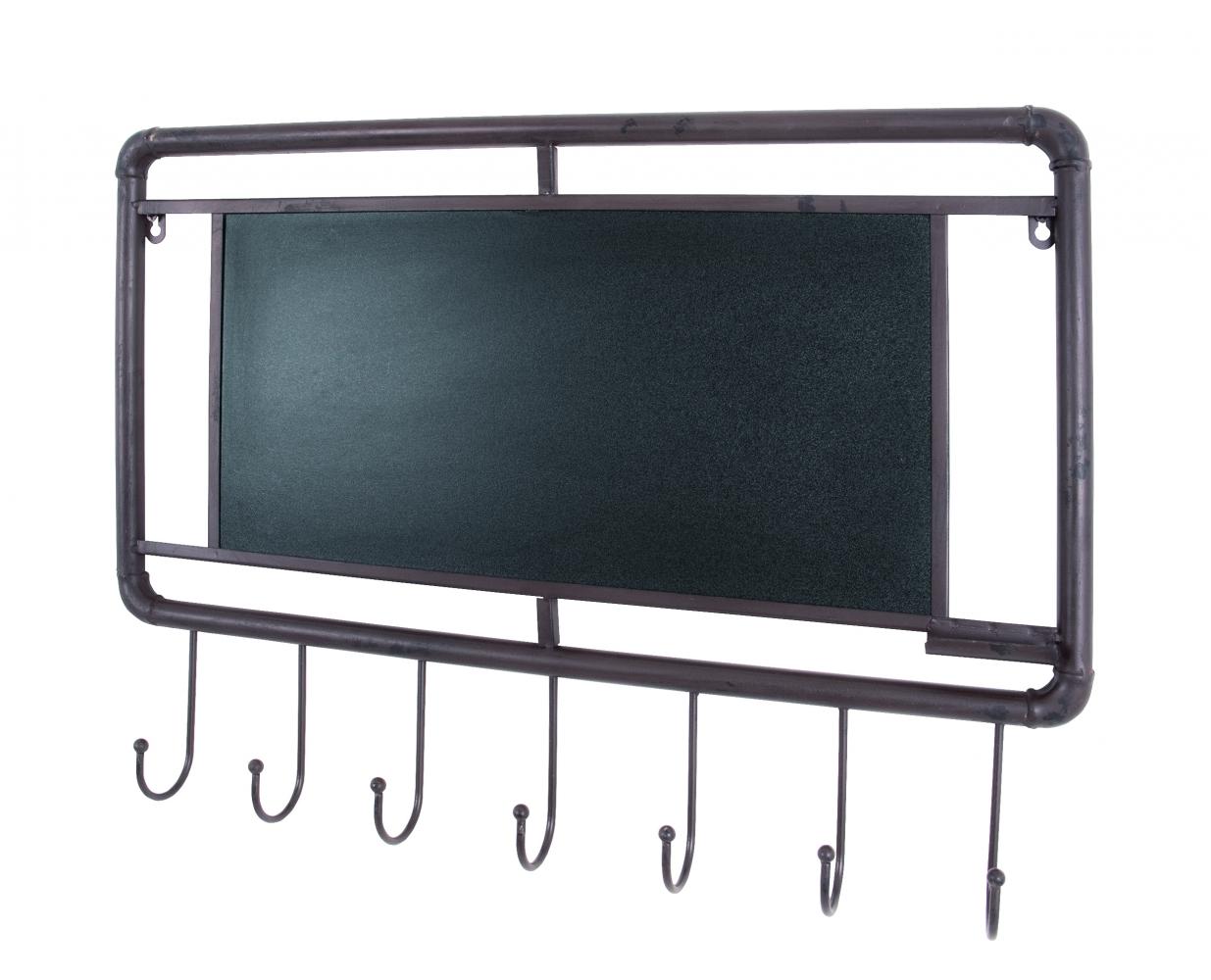 Nástěnný věšák s tabulí Chalk, 65 cm, hnědá