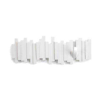 Nástěnný věšák Sonia, 49 cm, bílá