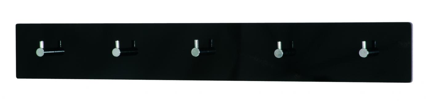 Nástěnný věšák Sonny, 57 cm, chrom / černá