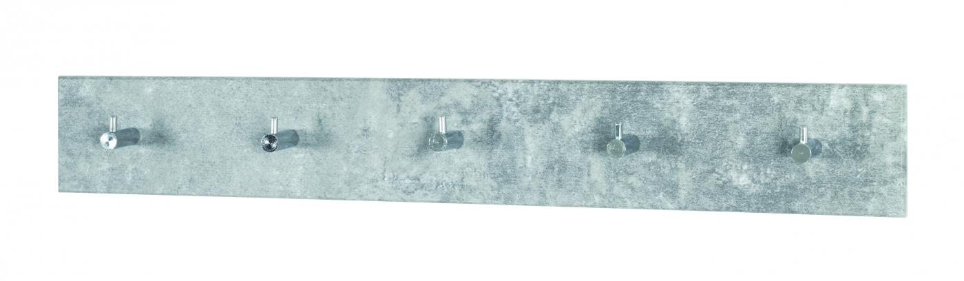 Nástěnný věšák Sonny, 57 cm, světlý beton