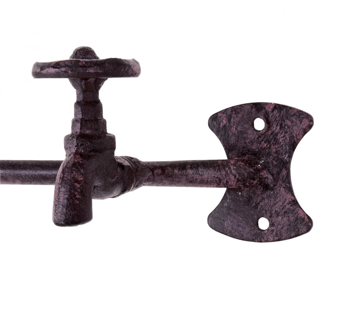 Nástěnný věšák Spigot, 37 cm, hnědá