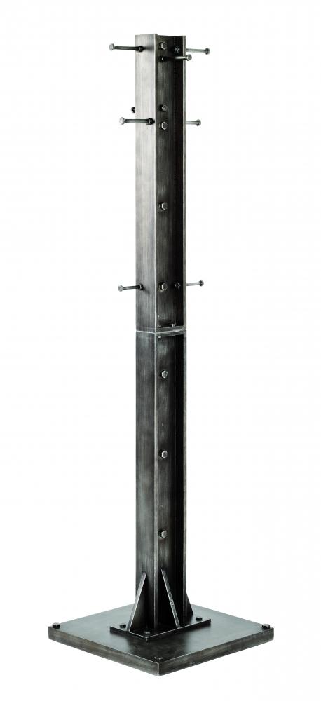 Nástěnný věšák Trident, 176 cm, antracitová