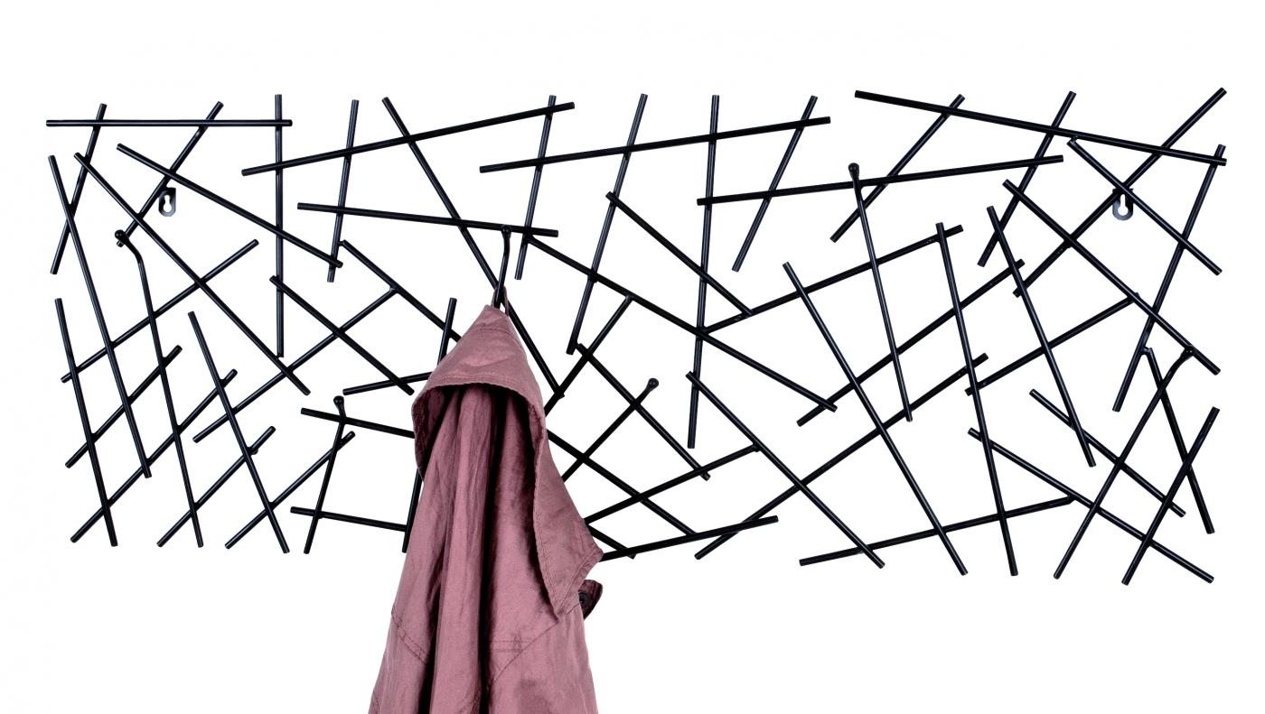 Nástěnný věšák Varz, 100 cm, antracitová