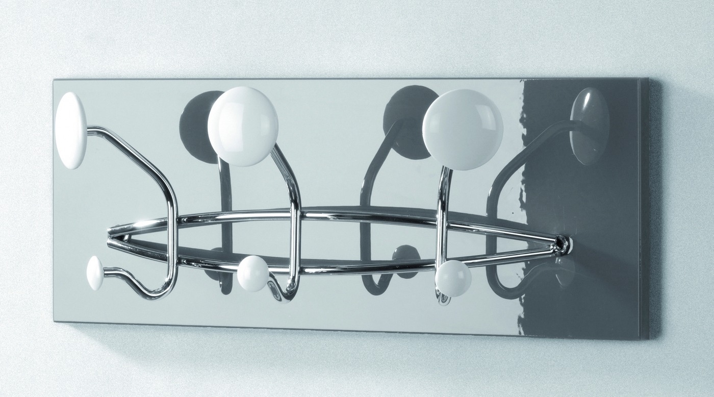 Nástěnný věšák Virgi, 48 cm, bílá / šedá
