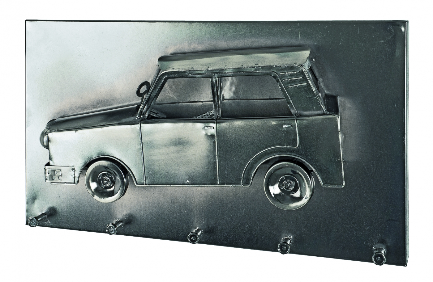 Nástěnný věšák Weels II., 35 cm, tmavý chrom