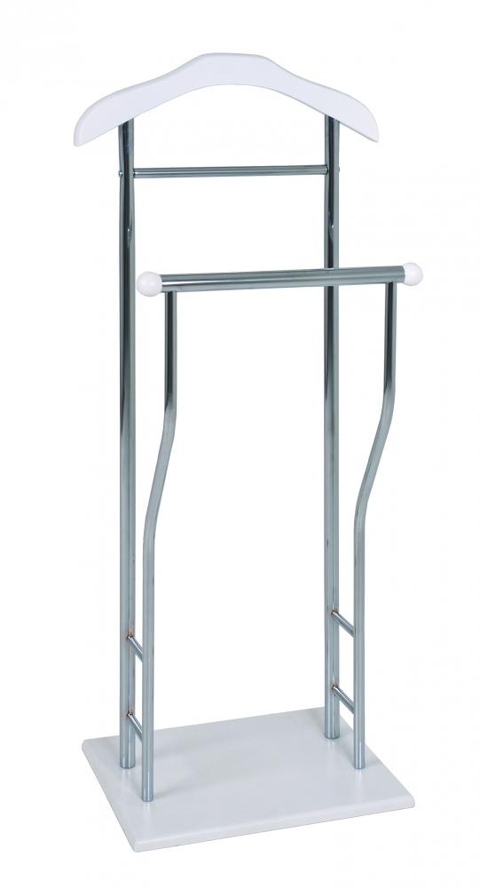 Němý sluha/stojan na oblečení Craig, 110 cm, bílá / chrom