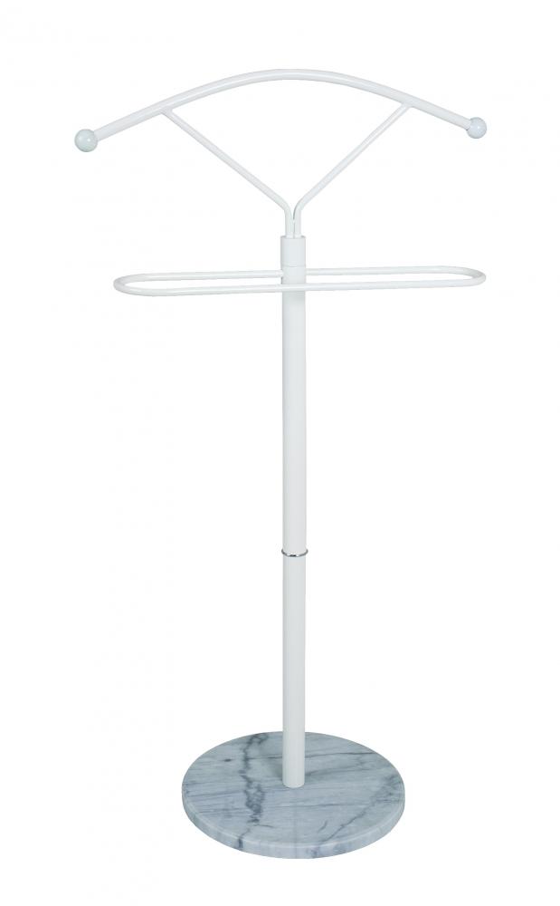 Němý sluha/stojan na oblečení Vidar, 105 cm, bílá