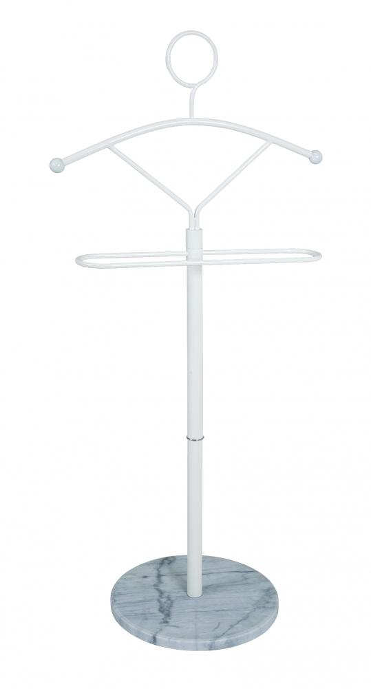 Němý sluha/stojan na oblečení Vidar, 121 cm, bílá