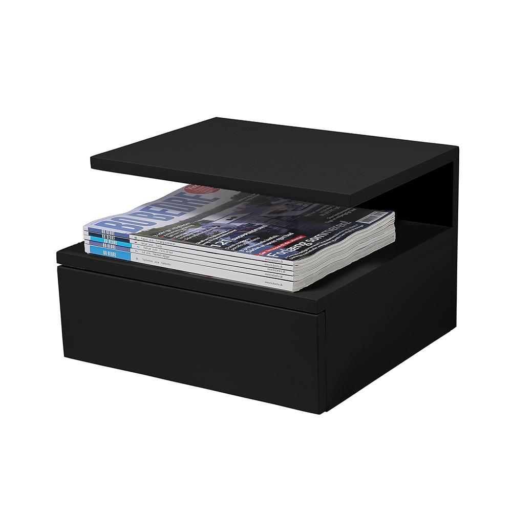 Noční stolek Alison, 35 cm, černá