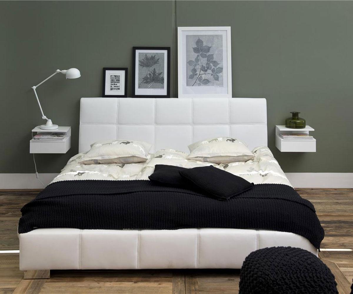 Noční stolek Alison, 35 cm, bílá