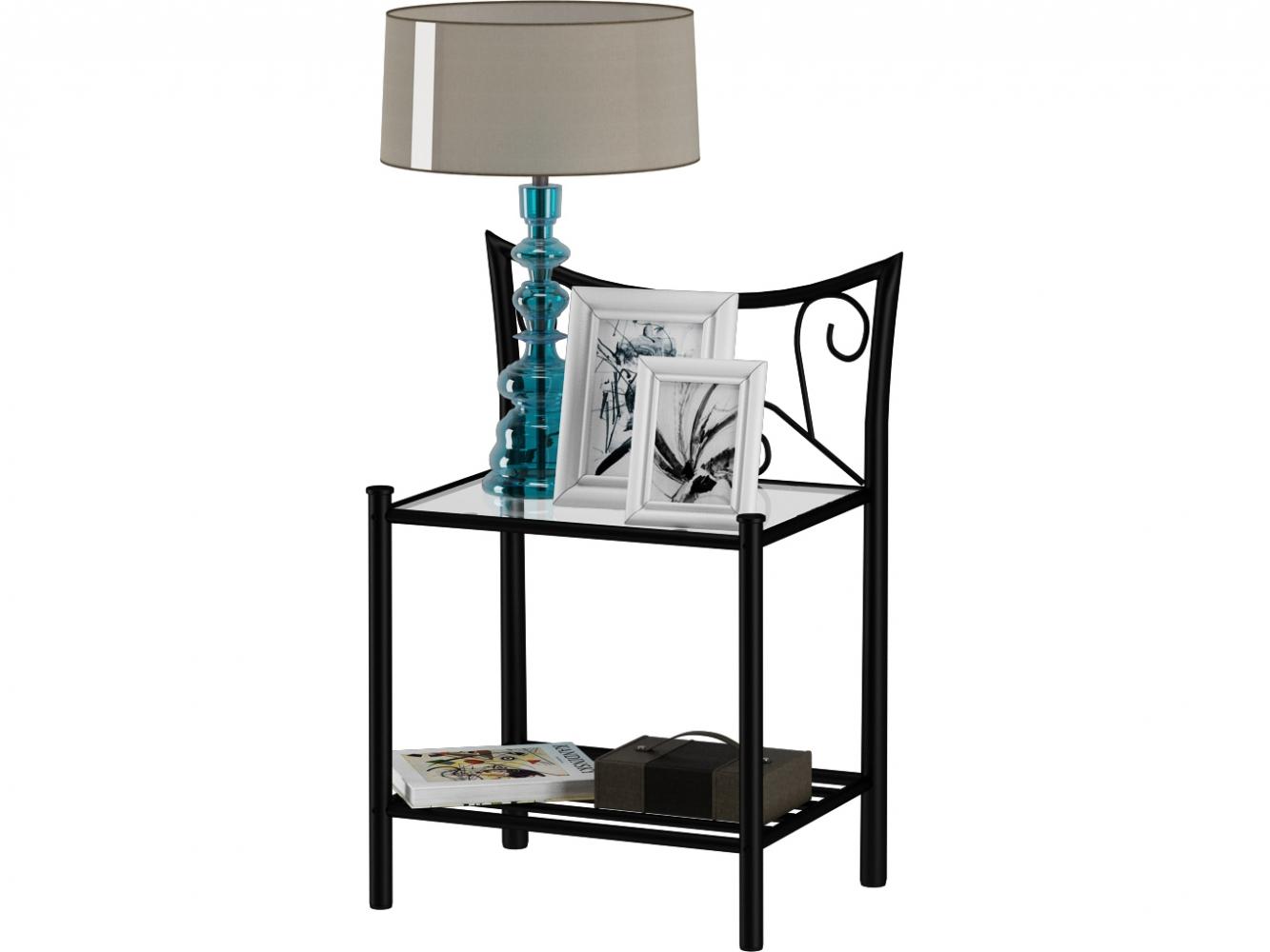 Noční stolek Dion, 62 cm, černá