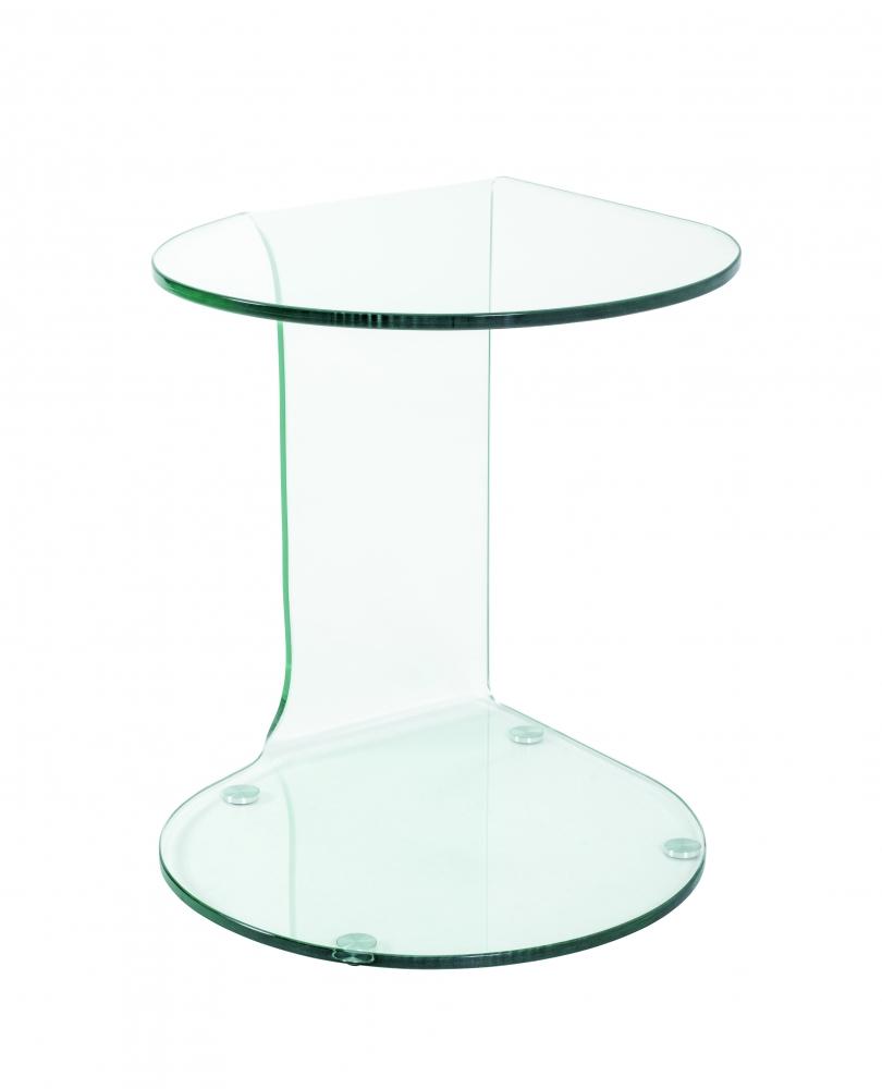 Noční stolek Felix I, 51 cm, čiré sklo