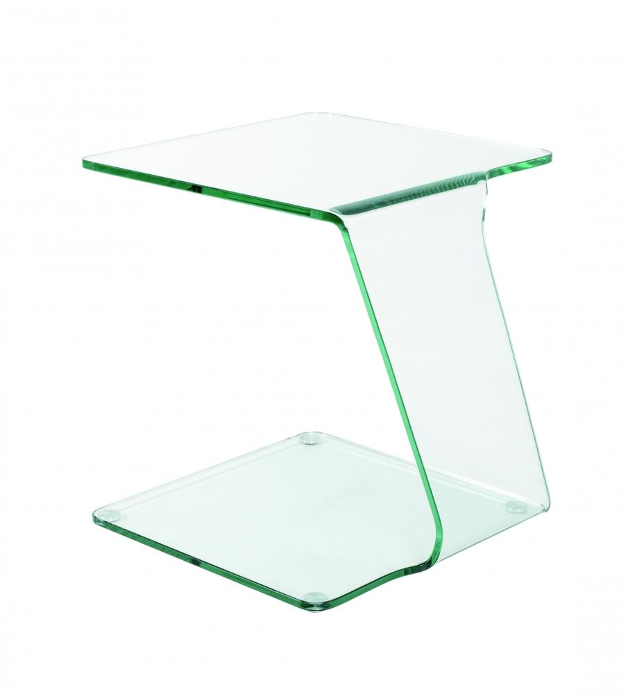 Noční stolek Felix II, 51 cm, čiré sklo