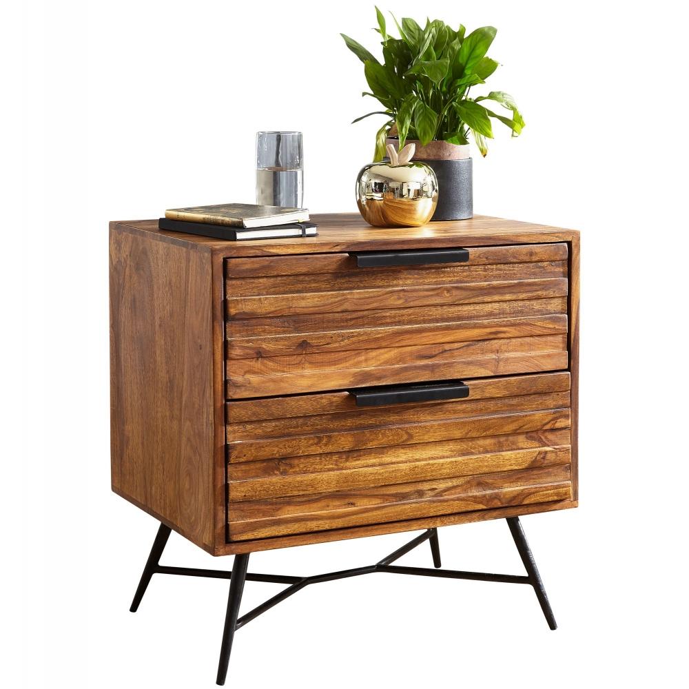 Noční stolek Greg, 60 cm, masiv Sheesham