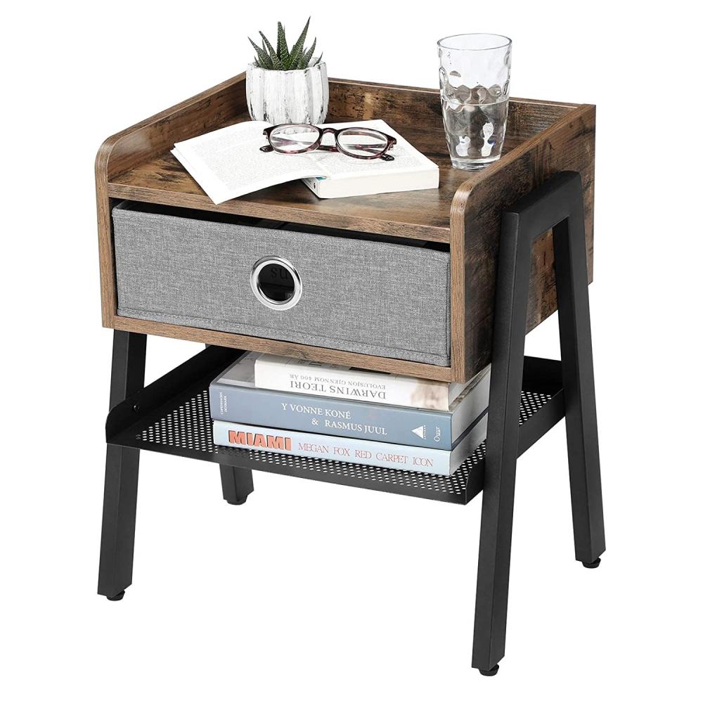 Noční stolek Haren, 53 cm, hnědá