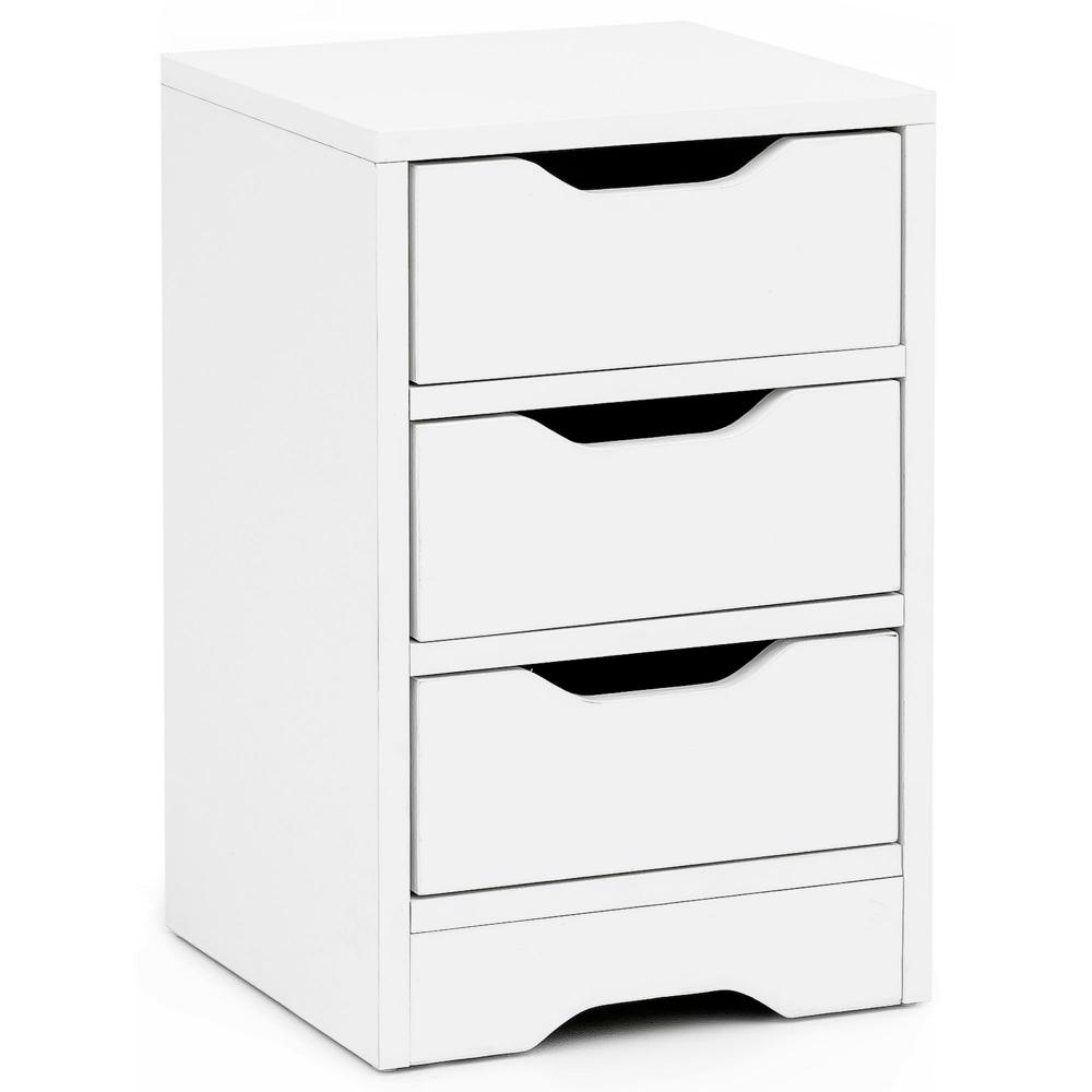 Noční stolek Jery, 49 cm, bílá