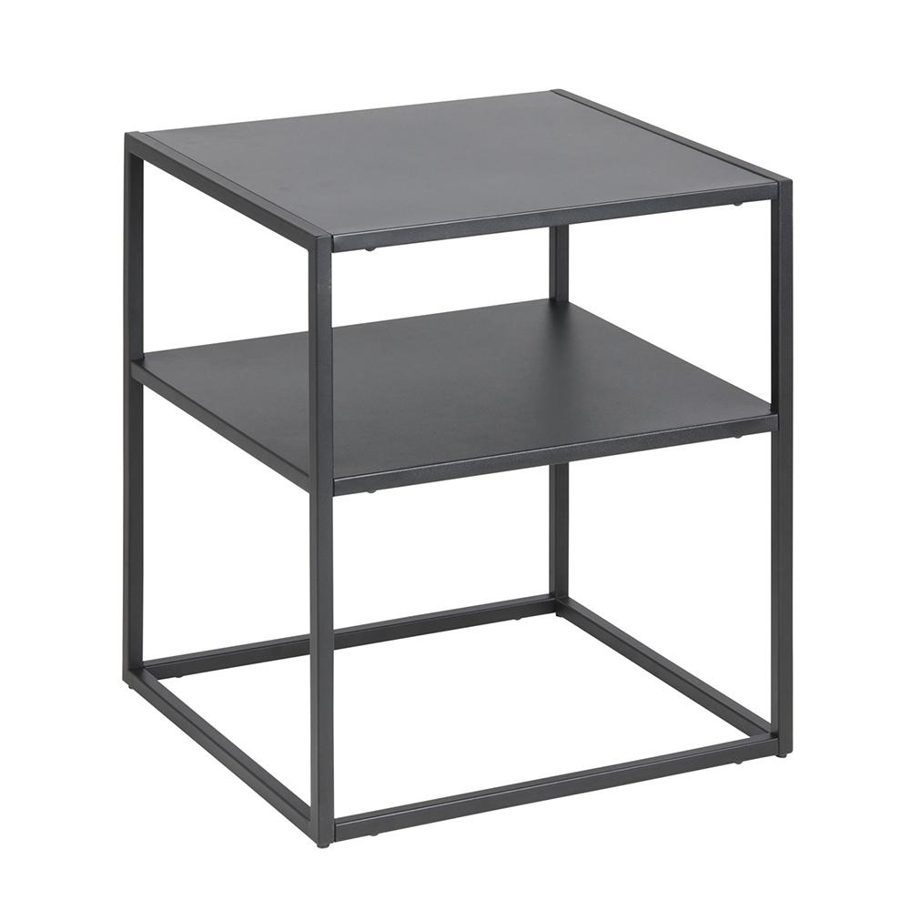 Noční stolek kovový Lyfte, 45 cm, černá