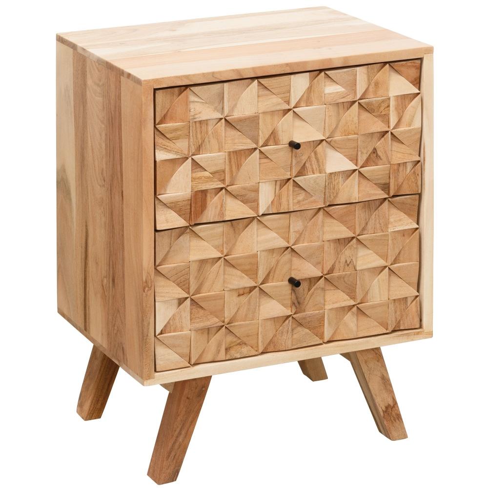 Noční stolek Muza, 61 cm, masiv akát