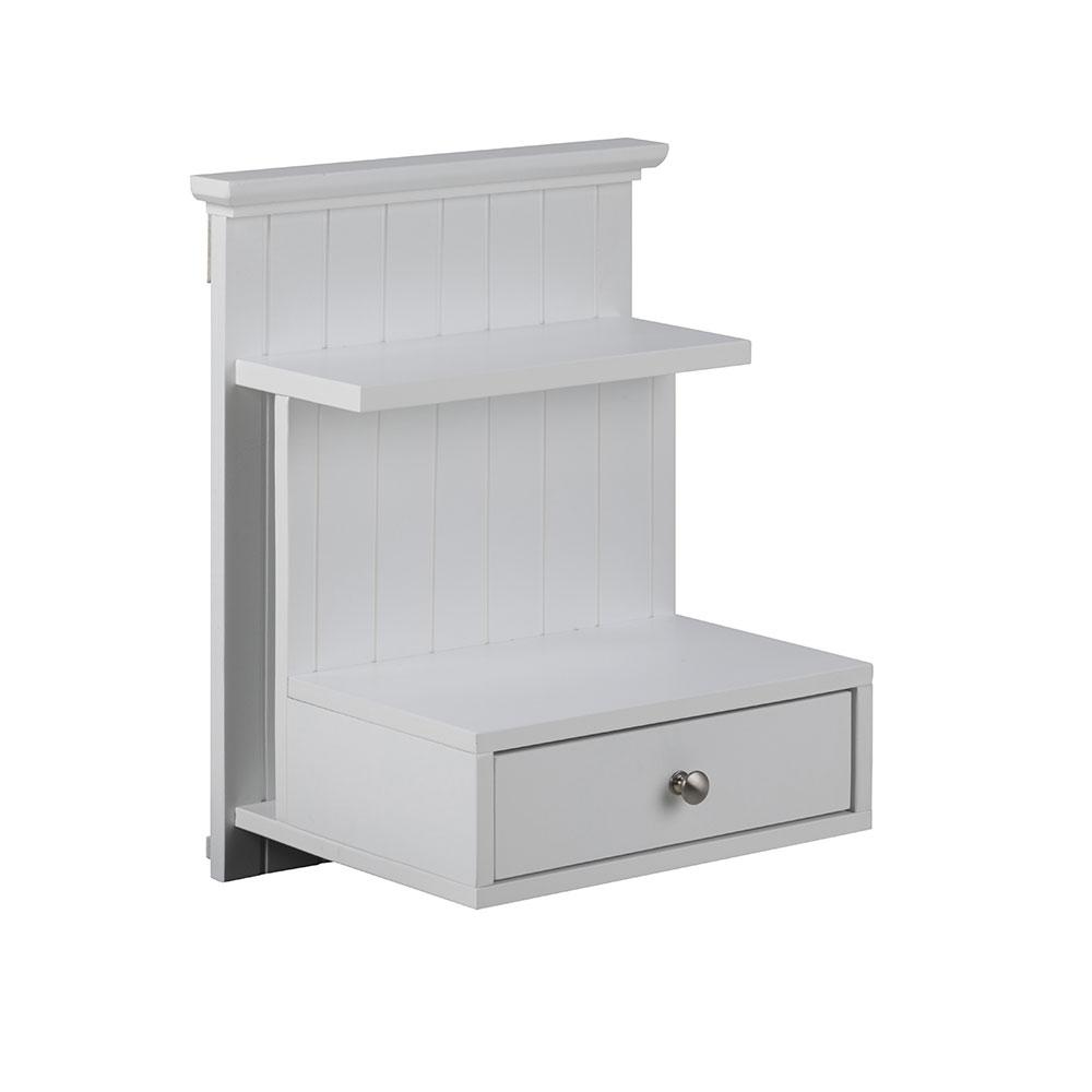 Noční stolek nástěnný Luciana, 50 cm, bílá