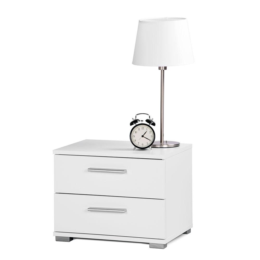 Noční stolek s 2 zásuvkami Nora, 35 cm, bílá