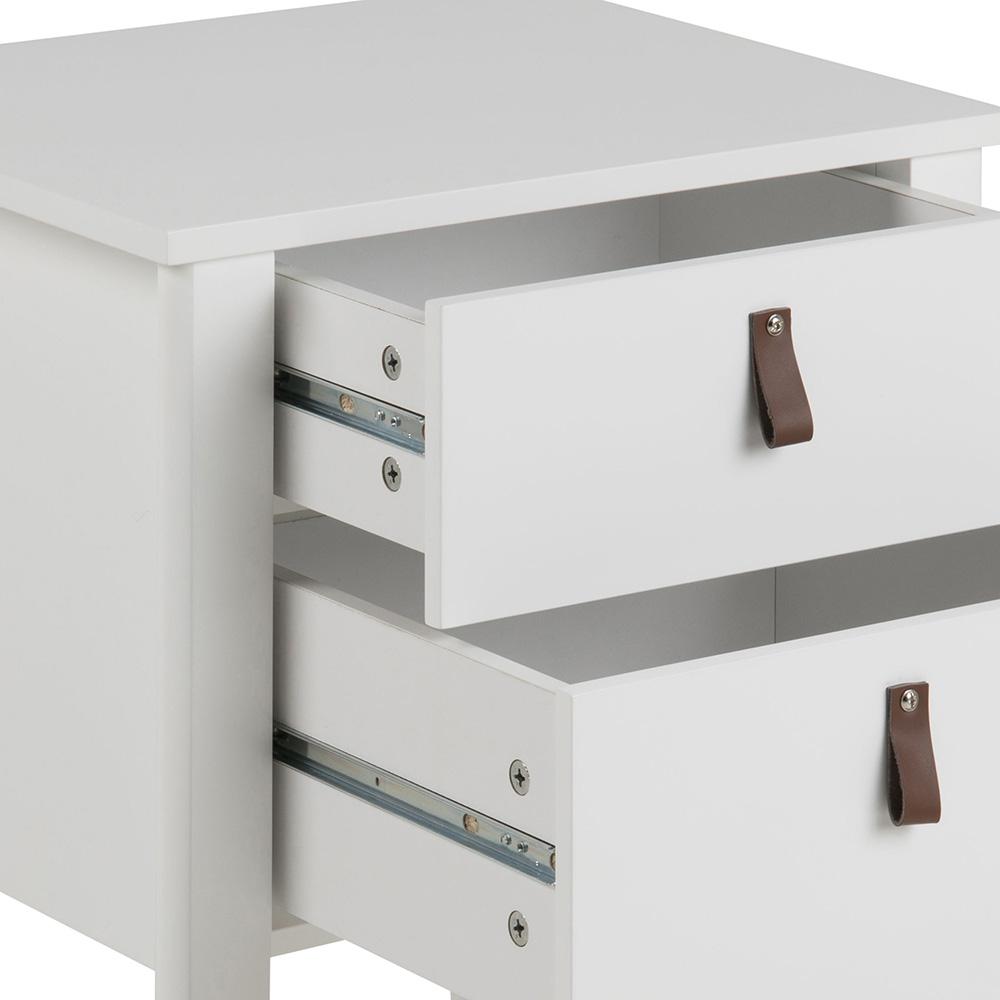 Noční stolek se zásuvkami Sabina, 48 cm, bílá