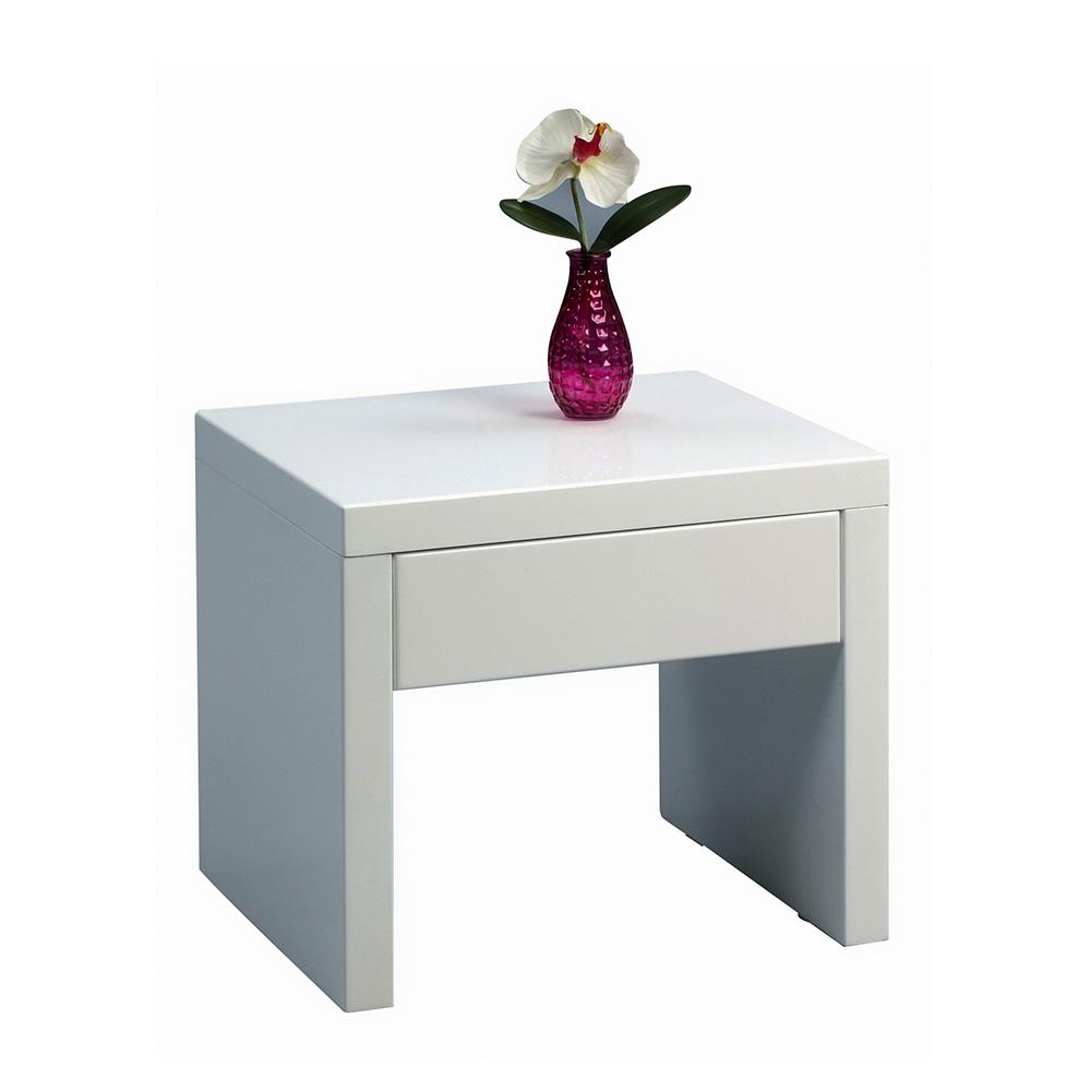 Noční stolek se zásuvkou Bianca, 45 cm