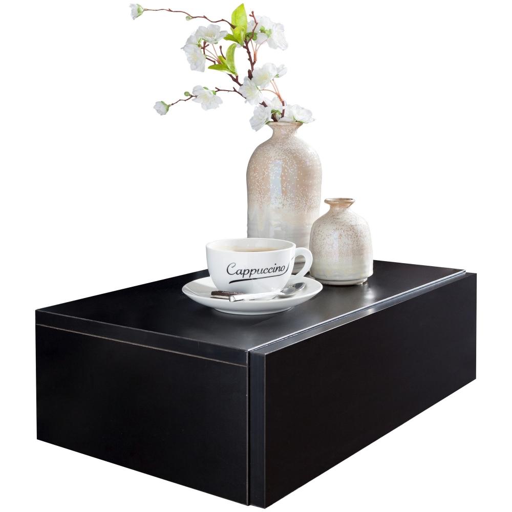 Noční stolek Tula, 46 cm, černá