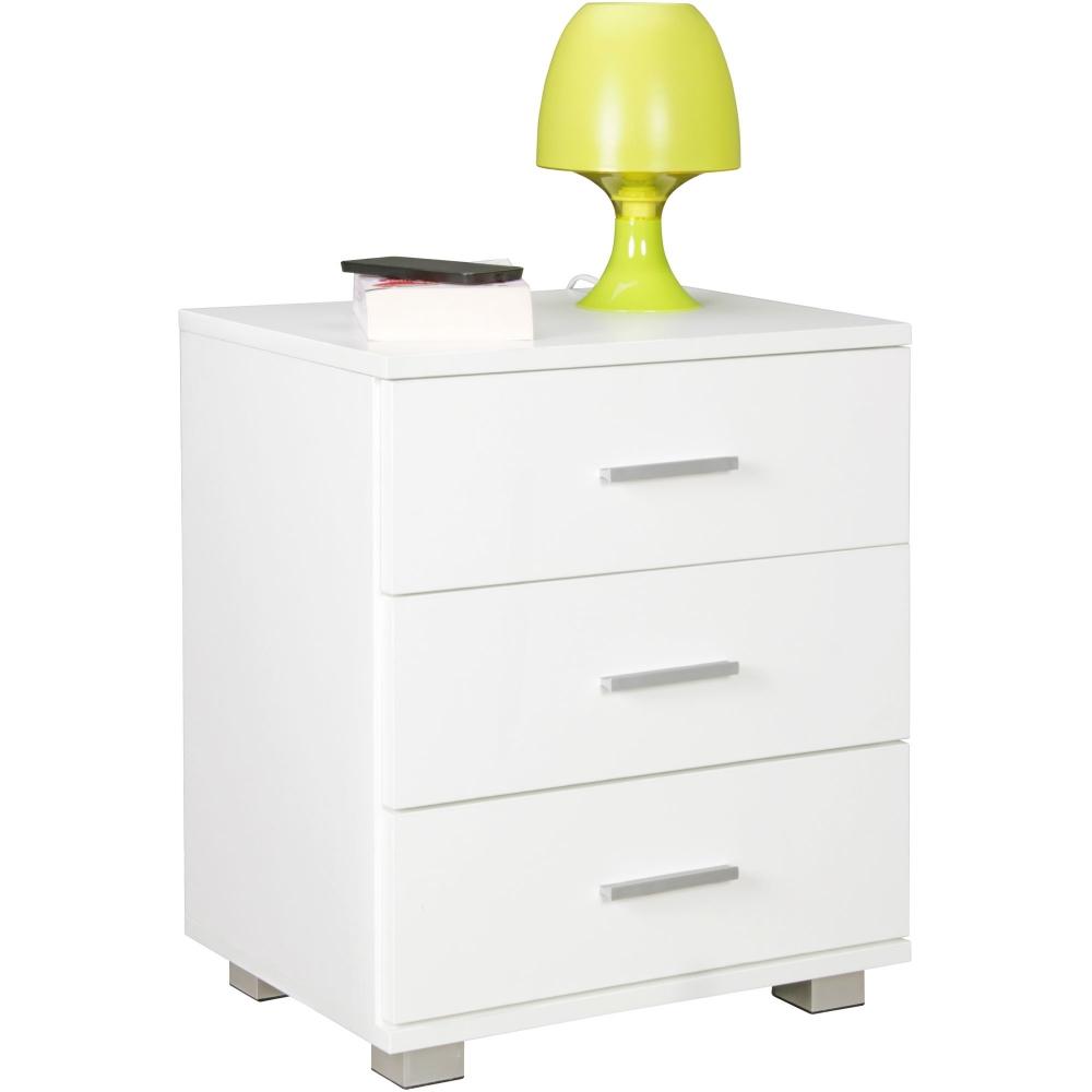 Noční stolek Yrsa, 54 cm, bílá