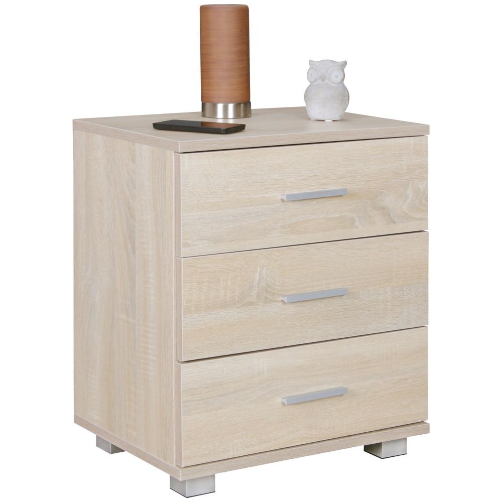 Noční stolek Yrsa, 54 cm, dub