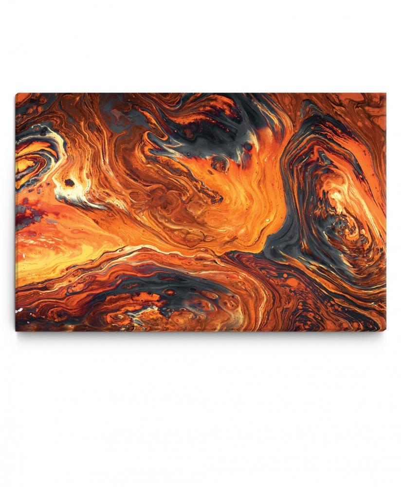 Obraz Abstrakce láva, 75x50 cm