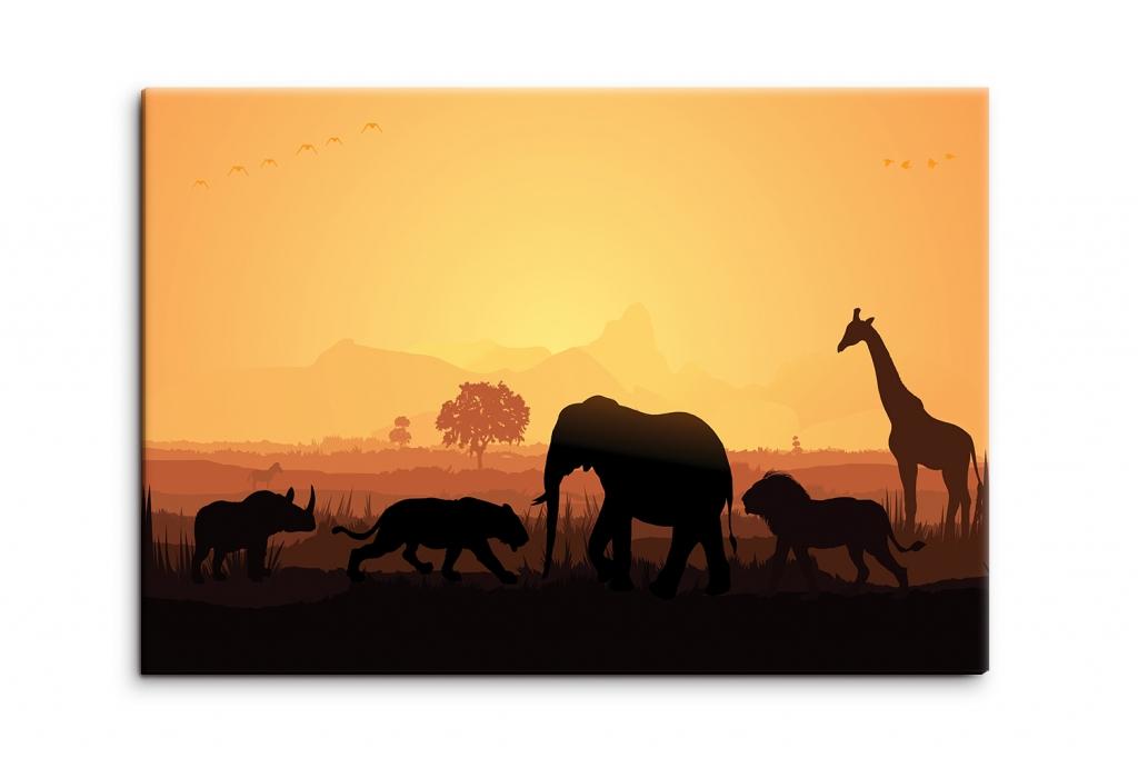 Obraz Africké safari, 120x80 cm